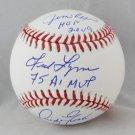 Jim Rice, Fred Lynn, & Dwight Evans Boston Red Sox Signed Autographed Baseball JSA
