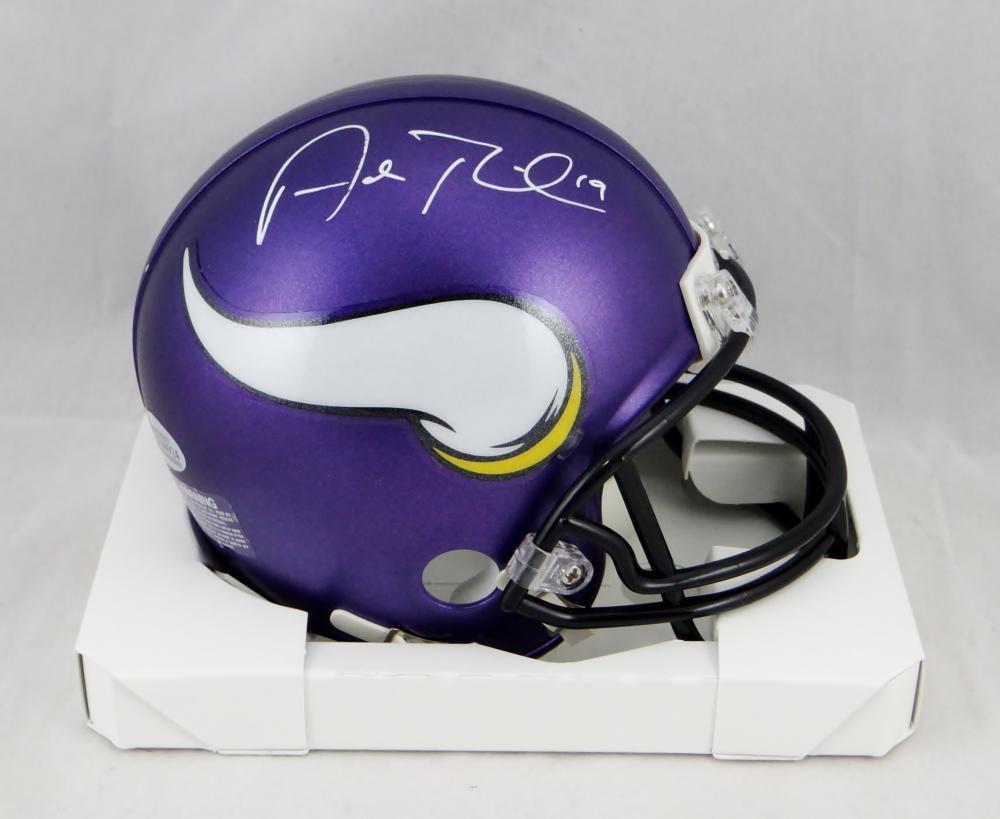 Adam Thielen Autographed Signed Minnesota Vikings Mini Helmet JSA