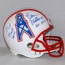 Mike Munchak & Bruce Matthews Signed Autographed Houston Oilers Full Size Helmet JSA