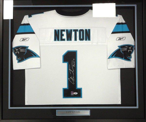 Cam Newton Signed Autographed Framed Carolina Panthers Jersey PSA