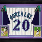 Luis Gonzalez Autographed Signed Framed Arizona Diamondbacks 2001 WS Majestic Jersey BECKETT