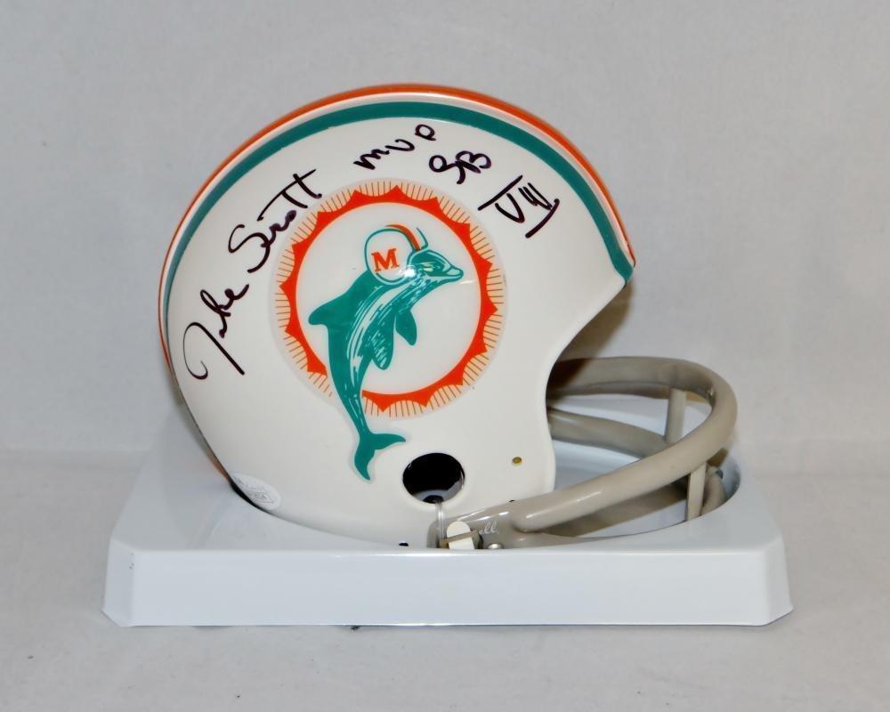 Jake Scott Autographed Signed Miami Dolphins Mini Helmet JSA