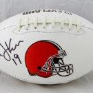 Bernie Kosar Signed Autographed Cleveland Browns Logo Football JSA