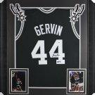 George Gervin Autographed Framed Signed San Antonio Spurs Jersey PSA