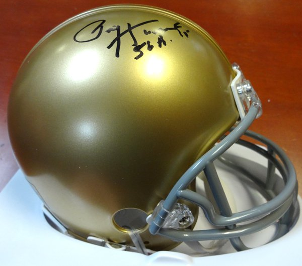 Paul Hornung Autographed Signed Notre Dame Fighting Irish Mini Helmet PSA