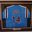 Pete Rose Autographed Signed Framed Philadelphia Phillies Jersey BECKETT