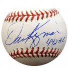 Dave Kingman Cubs, Mets, A's Signed Autographed Official Baseball BECKETT