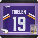 Adam Thielen Autographed Signed Framed Minnesota Vikings Jersey JSA