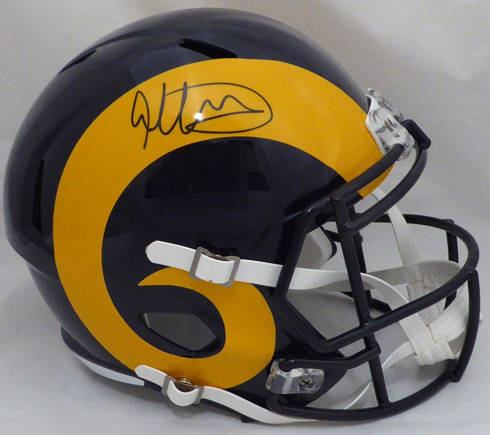 Todd Gurley Signed Autographed Los Angeles Rams Full Size Speed Helmet BECKETT