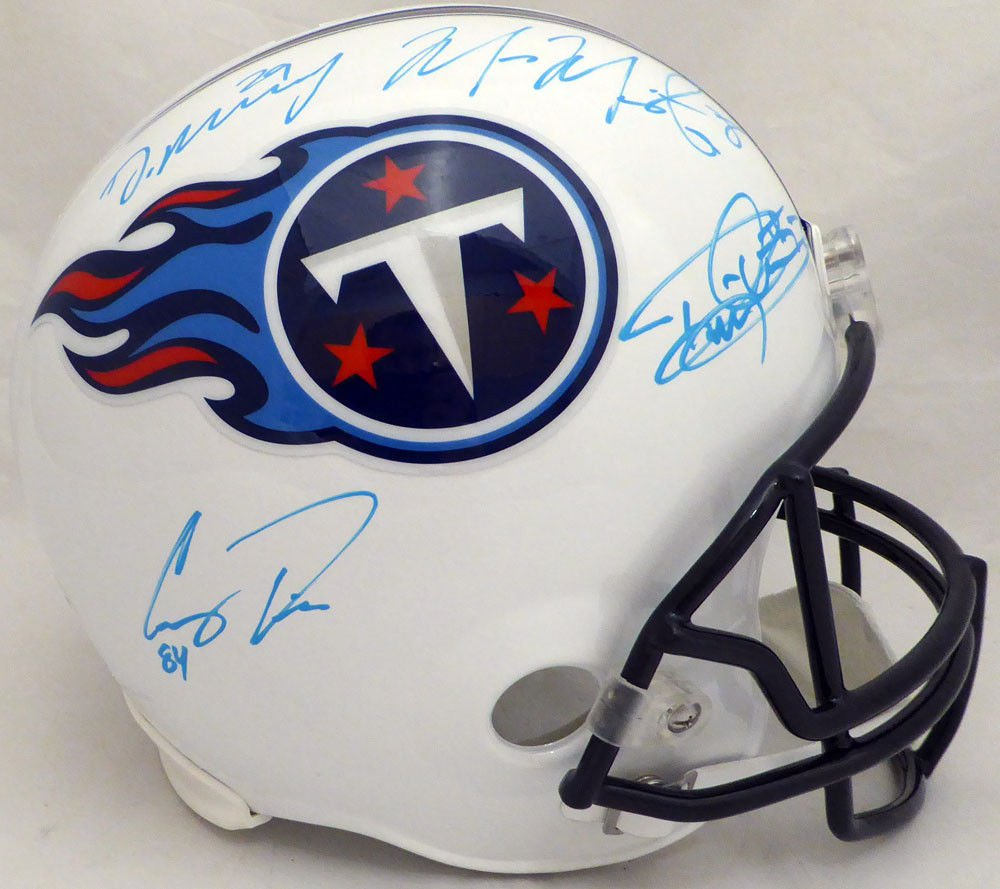 Marcus Mariota, Henry, Davis, Murray Signed Autographed Tennessee Titans Full Size Helmet BECKETT