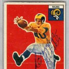 Elroy Hirsch Los Angeles Rams Signed Autographed 1956 Topps Card PSA