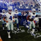 Dak Prescott & Ezekiel Elliott Signed Autographed Dallas Cowboys 16x20 Photo BECKETT