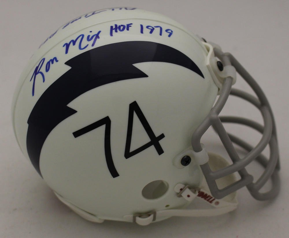 Ron Mix Autographed Signed San Diego Chargers Mini Helmet BECKETT
