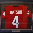Deshaun Watson Autographed Signed Framed Houston Texans Jersey BECKETT