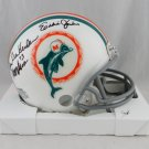 1972 Dolphins (7 Sigs) Autographed Signed Dolphins Mini Helmet JSA