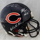 Urlacher Butkus Singletary Signed Autographed Chicago Bears FS Proline Helmet JSA
