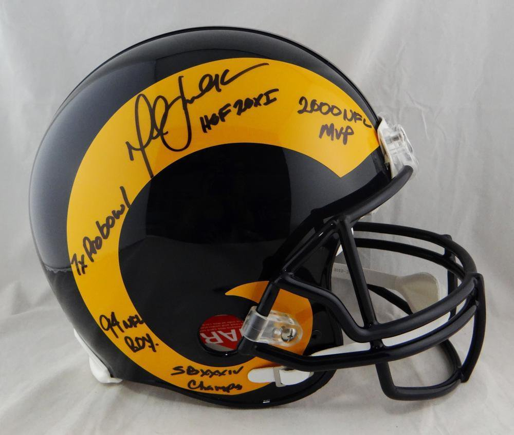 Marshall Faulk Autographed Signed Rams Full Size Proline Helmet BECKETT