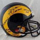 Marshall Faulk Autographed Signed Rams Full Size Proline Helmet BECKETT