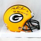 Mark Chmura Signed Autographed Green Bay Packers Mini Helmet BECKETT