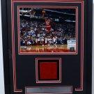 Michael Jordan Chicago Bulls Framed Photo Game Used Red Hardwood Floor Piece