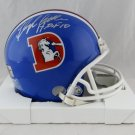Floyd Little Autographed Signed Denver Broncos Mini Helmet JSA