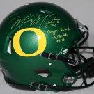 Marcus Mariota Signed Autographed Oregon Ducks Speed Proline Helmet STEINER