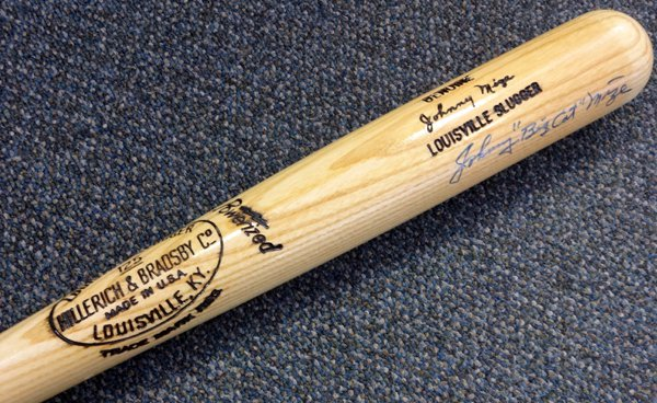 Johnny Mize New York Yankees Signed Autographed Louisville Slugger Baseball Bat PSA