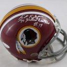 Billy Kilmer Signed Autographed Washington Redskins Mini Helmet JSA