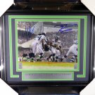 Russell Wilson & Marshawn Lynch Dual Signed Autographed Seattle Seahawks Framed 8x10 Photo RW ML COA