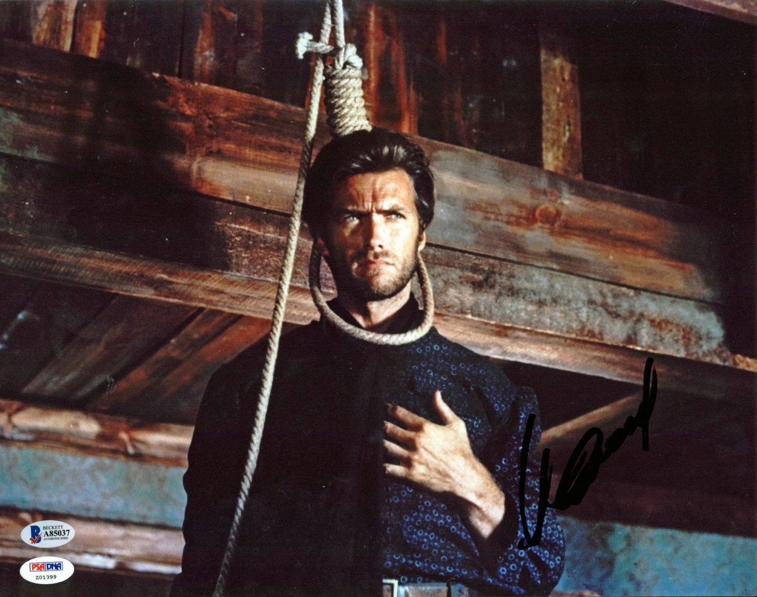 Clint Eastwood The Good, the Bad and the Ugly Autographed Signed 11x14 Photo BECKETT