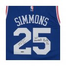 Ben Simmons Autographed Signed Philadelphia 76ers Jersey UPPER DECK