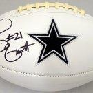 Ezekiel Elliott Signed Autographed Dallas Cowboys Logo Football BECKETT