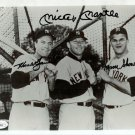Mickey Mantle, Hank Bauer, Moose Skowron Yankees Signed Autographed 8x10 Photo JSA