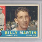 Billy Martin Signed Autographed 1960 Topps Card BECKETT