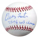 George Foster Cincinnati Reds Signed Autographed Official Baseball PSA