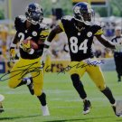 LeVeon Bell & Antonio Brown Steelers Autographed Signed 8x10 Photo JSA