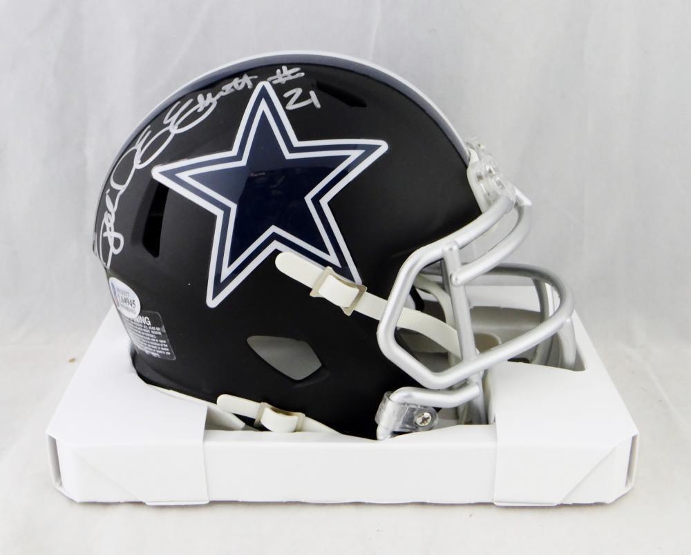 Ezekiel Elliott Signed Autographed Dallas Cowboys Mini Helmet BECKETT