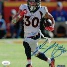 Phillip Lindsay Autographed Signed Denver Broncos 8x10 Photo JSA