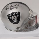 Ted Hendricks Signed Autographed Oakland Raiders Mini Helmet JSA