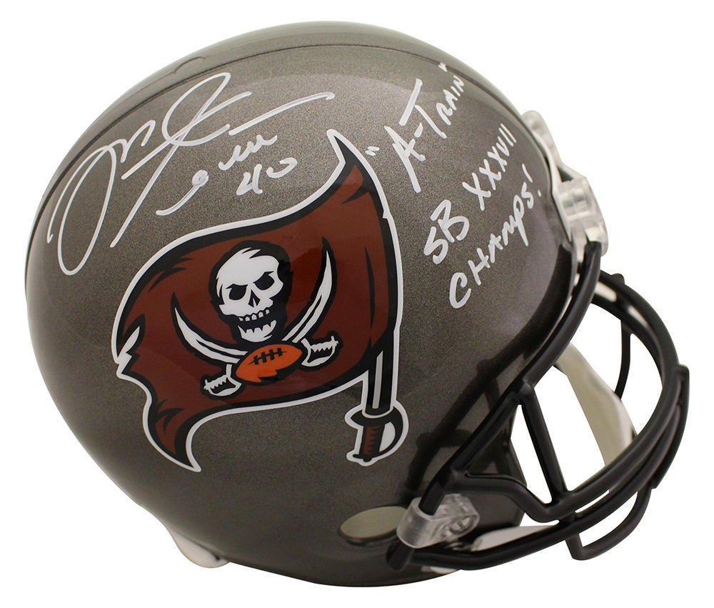Mike Alstott Signed Autographed Tampa Bay Buccaneers FS Helmet BECKETT