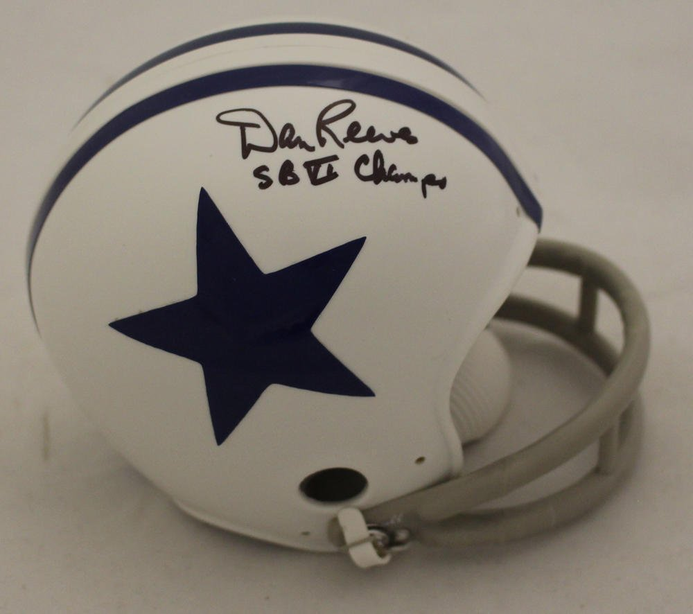 Dan Reeves Autographed Signed Dallas Cowboys Mini Helmet JSA