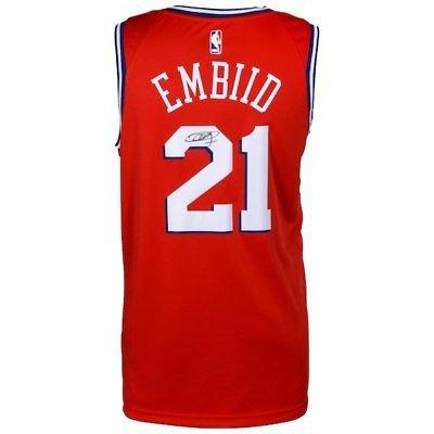 Joel Embiid Autographed Signed Philadelphia 76ers Nike Jersey FANATICS