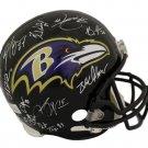 2012 Baltimore Ravens Team (26) Autographed Signed SB XVLII FS Helmet JSA