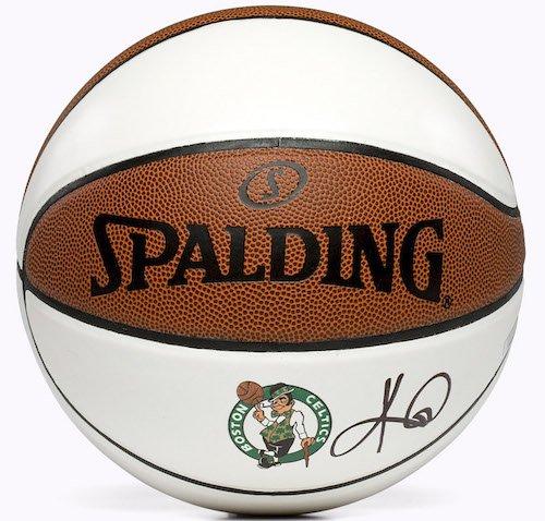 Kyrie Irving Autographed Signed Boston Celtics White Panel Basketball PANINI