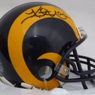 Kurt Warner Autographed Signed Rams Mini Helmet BECKETT