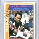 Walter Payton Chicago Bears Autographed Signed 1978 Topps Card BECKETT