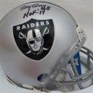 Ray Guy Signed Autographed Oakland Raiders Mini Helmet BECKETT