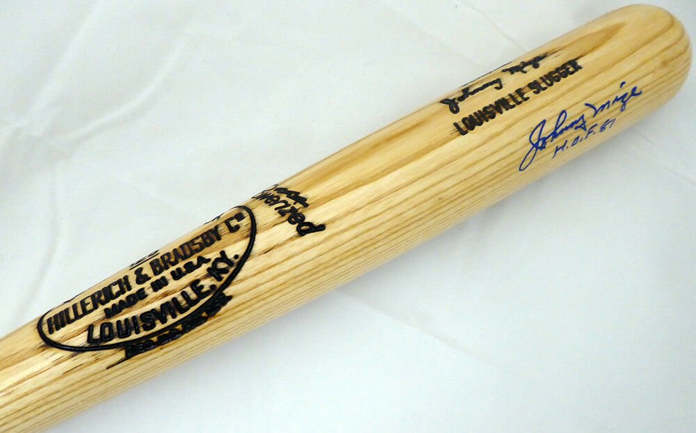 Johnny Mize Yankees Cardinals Signed Autographed Baseball Bat BECKETT