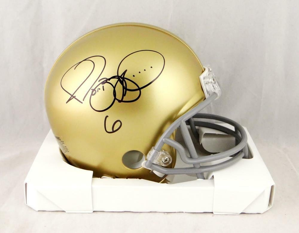 Jerome Bettis Autographed Signed Notre Dame Fighting Irish Mini Helmet BECKETT