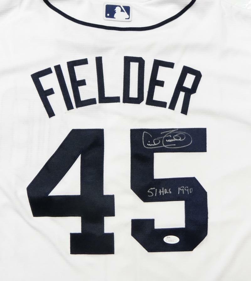 Cecil Fielder Autographed Signed Detroit Tigers Majestic Jersey JSA